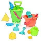 ThinkMax 27 Piezas de Juego de Playa, Playa Castillo de Arena Juego de Palas de Cubo Pala rastrillo, Kit de Herramientas Modelo de Verano al Aire Libre para niños