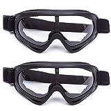 Maschere da Sci, 2 Confezioni di Occhiali da Sci per Uomo, Maschere da Snowboard OTG UV400 Produzione Doppie Lenti Casco Antiappannamento Occhiali da Neve Antivento Compatibili per Bambini Donna Uomo