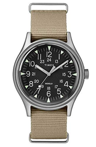 TIMEX Green Fabric Watch-TW2T10300