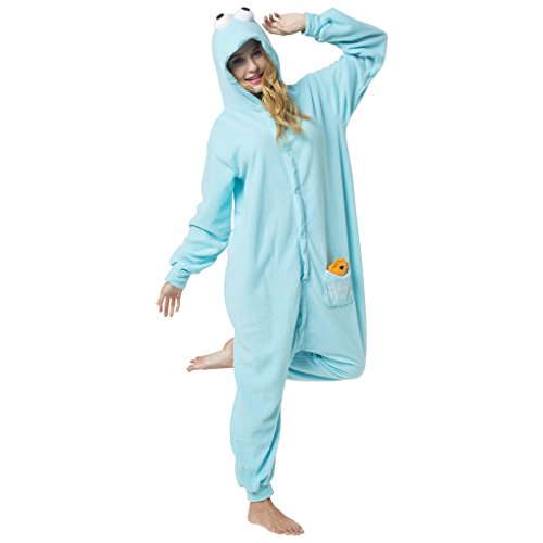 Katara-(10+ Modelos) Kigurumi Pijamas Disfraz de Animal Halloween Carnaval, Adultos, Color monstruo de las galletas, Talla 145-155cm (1744) , color/modelo surtido