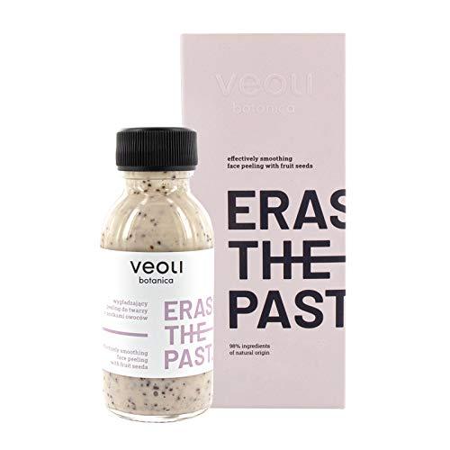 veoli Erase the past Gesichtspeeling 90 ml alle Hauttypen, Peeling vegan zur Gesichtspflege, Porenreinigung mit Fruchtsamen