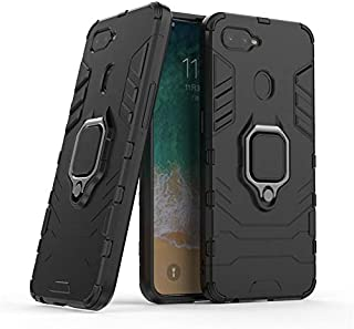 OPPO F9 Iron Man 2018 Protection Cover Case With Metal Ring & Magnetic Car holder, Black