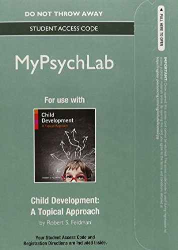 NEW MyLab Psychology  without Pearson eText -- Standalone Access Card -- for Child Development: A Topical Approach