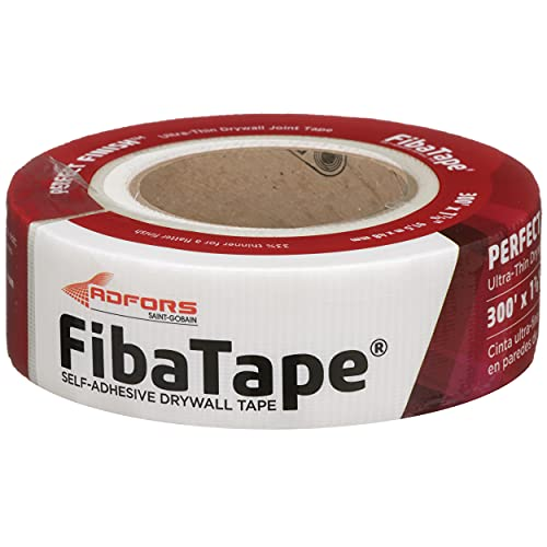 FibaTape FDW8654-U Perfect Finish, Ultra-Thin Joint Drywall Tape, 1-7/8 in. x 300 ft, White