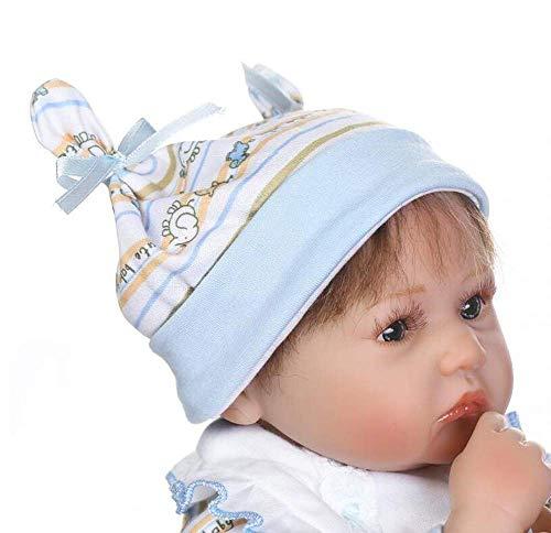 """WYZQ Reborn Baby Dolls Hecho a Mano, 40 cm 16""""Realistic Reborn Babies Soft Touch Vinilo Silicona Baby Toddler, Realista Baby Doll para niños Regalo Juguete de Navidad para niños de 3 años o más Jugu"""