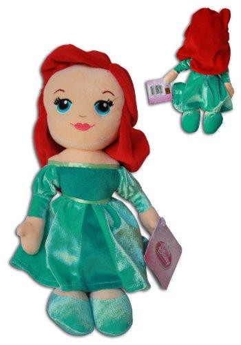 Ariel 30cm Princesse Peluche Poupée Disney Princess Robe Verte Rousse La Petite Sirène