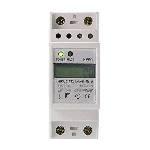 LCD Digitale Stromzähler Wechselstromzähler Hutschiene KWh Zähler 10(40) A Elektronische KWh Meter Digital LCD für Hutschiene