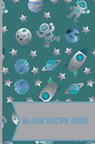 Blank Recipe Book: Ming In space Adventures cute & elegant blank Lined recipe paper to write in