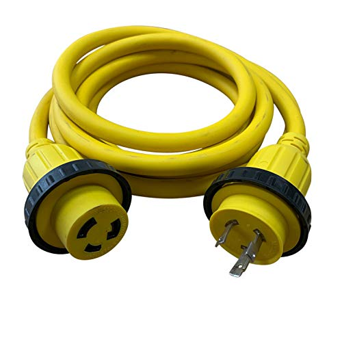Halex, 31225, 25 FT. Marine Shore Power Extension Cord For Boats, Campers, or RVs, 30 Amp, 125 Volt, 25FT, Yellow