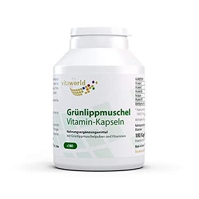 3er Pack Vita World Gruenlippmuschel 400mg + Vitamine 540 Kapseln Apotheken Herstellung Grünlippmuschel Grünlipp