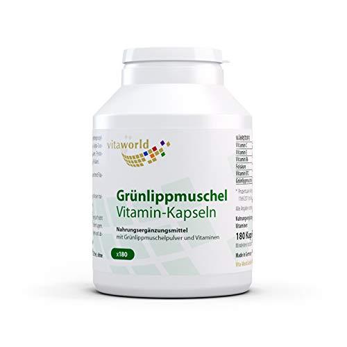 3-pack Vita World gräsklippmuskel 400 mg + vitamin 540 kapslar apotekstillverkning grön läppmuskel grön läppkopp