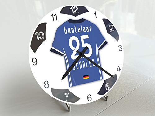 FanPlastic Tischuhr KLAAS-JAN HUNTELAAR 25 FC SCHALKE 04 – Legends Edition Fußball Tischuhr