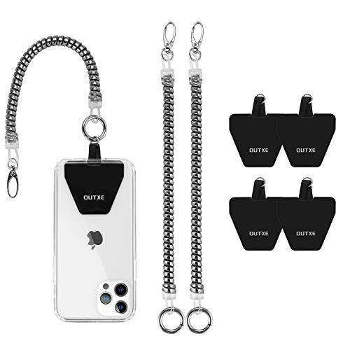 OUTXE Phone Lanyard Tether with 4 Patch- 2× Phone Tether, 4× Phone...