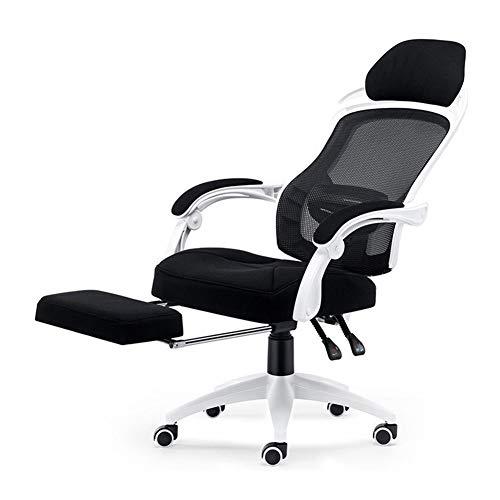 Silla de oficina giratoria, silla de oficina, silla ergonómica de juego, silla reclinable, Material:, color, With footrest