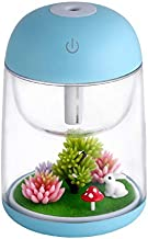 USB Miniature Air Humidifier USB Ultrasonic LED Light Electric Essential Oil Diffuser for Home Aromatherapy Humidifier (Co...