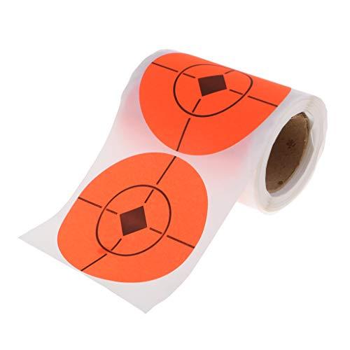 SM SunniMix 100x Objetivos Reactivos de Disparo de Salpicadura Dianas Cuandrado para Blancos de Tiro - 100pcs Naranja, 7.5cm