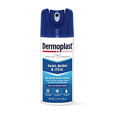 Dermoplast Pain, Burn & Itch Spray, Pain Relief Spray for Minor Cuts, Burns and Bug Bites, 2.75 oz (Pack of 2)
