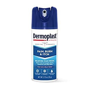 Dermoplast Pain Burn & Itch Relief Spray for Minor Cuts Burns and Bug Bites 2.75 Oz  Packaging May Vary