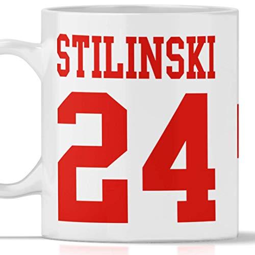 Tazza Stilinski 24 Beacon Hills - Lacrosse. Adatta per Colazione, The, tisana, caffè, Cappuccino. Gadget Mug Stilinski 24 Tributo Serie TV Teen Wolf. Anche Come Idea Regalo Originale e Simpatica