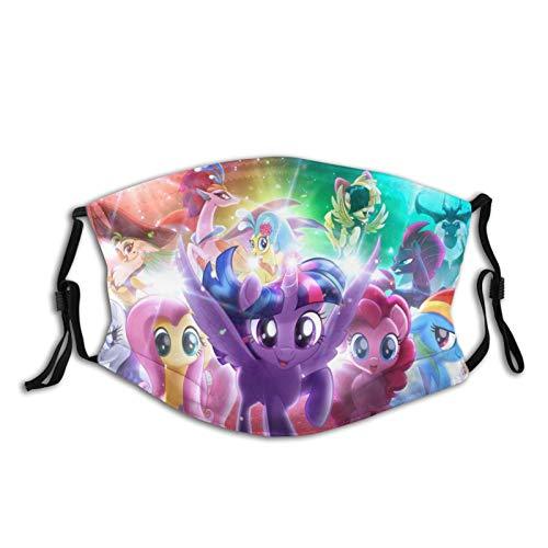 tailored My Little Pony Unisex waschbare und wiederverwendbare Maske sonnenfeste und staubdichte Sturmhaube Maske Outdoor Reiten Angeln Skifahren
