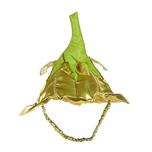 Encantador Sombrero para Dama Hada del Bosque/Dorado-Verde/Encantador Sombrero de Flores para Disfraz de elfa/Apropiado para Festivales y Concurso de Disfraces