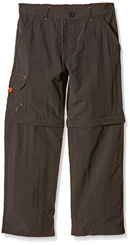 Regatta Sorcer Pantalones Desmontables para niño, Niño, Color Negro - Gris, tamaño Talla 5-6