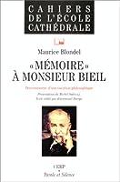 Memoire a monsieur bieil
