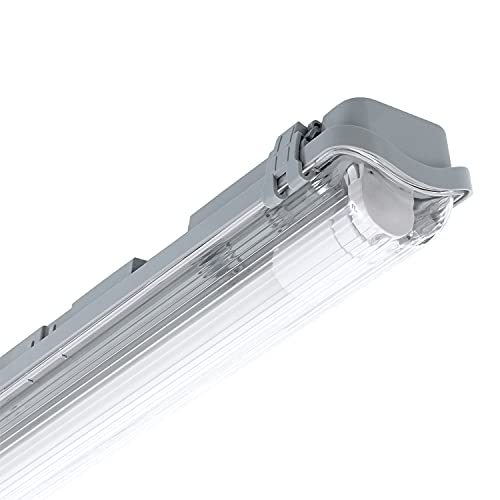 LEDKIA LIGHTING Pantalla Estanca Slim para un Tubo de LED 1200mm Conexión un Lateral IP65 1200 mm