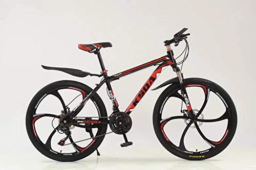 【US in Stock】 Hmazy Junior Aluminum Full Mountain Bike, Stone Mountain 26 Inch 21-Speed Bicycle