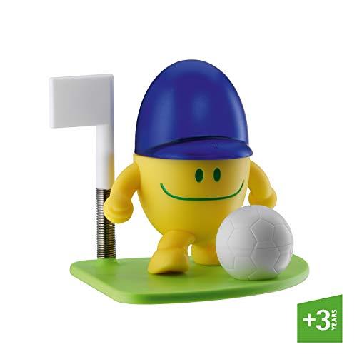 WMF McEgg Ball Eierbecher mit Salzstreuer, Kunststoff, Edelstahl Cromargan poliert, spülmaschinengeeignet, gelb