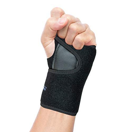 Actesso Easy Fit Handgelenkschiene - Unterstützung bei Karpaltunnelsyndrom, RSI, Sehnenentzündung/Sehnenscheidenentzündung - Universalgröße, für Männer und Frauen (Links)