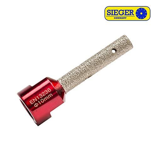 SIEGER Ø 10mm Diamant Fräser Fliesenfräser Fingerfräser M14 für Flex Fliesenleger Werkzeug Granit Marmor Stein Fräser Bohrer