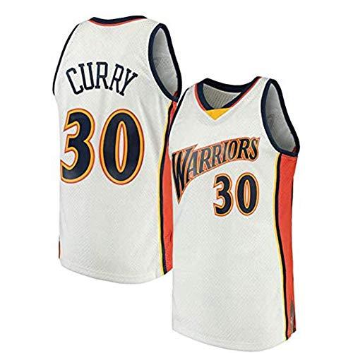 Jersey de la NBA de los Hombres, Golden State Warriors # 30 Stephen Curry Classic Jersey, Tela Fresca Transpirable, Fan de Baloncesto Unisex Sin Mangas Sports Chalt Top,A,M
