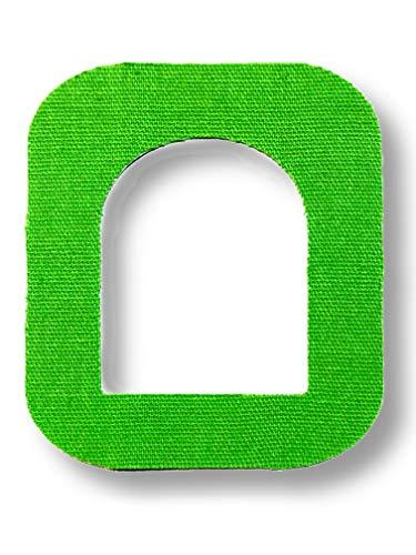 FixTape atmungsaktives Fixier-Tape für OmniPod I selbstklebendes Patch mit Loch für schlauchlose Insulin-Pumpe I besonders hautfreundlich und wasserfest in modernen Designs I 7 Stück (Grün)