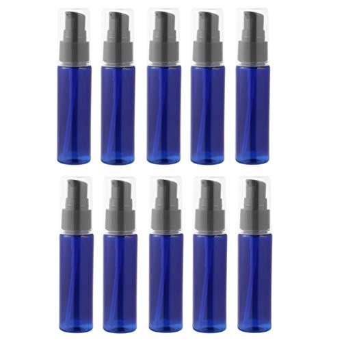 SOLUSTRE 10 Pcs 30 ML Voyage Vide Pompe Bouteilles Rechargeables Liquide Pompe Distributeurs Bouteilles pour Shampooing Lotion Cosmétique (Bleu)