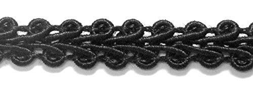 32m Posamentenborte 6mm breit Farbe: Schwarz 2318-26
