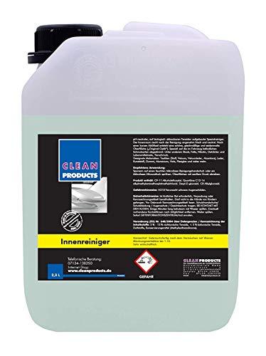 CLEANPRODUCTS Auto Innenraum Reiniger Konzentrat - 2,3 Liter - Mischung bis 1:10, für Stoff, Kunststoff, Gummi, Aluminium, Plexiglas, Leder, Alcantara, Velours, Holz