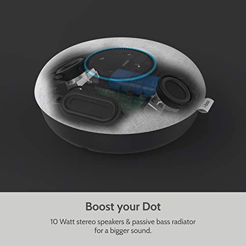 Portable Speaker Dock, i-box Audio Dock for Amazon Alexa Echo Dot (2nd Generation), Echo Dot 2nd Generation Speaker Dock (Chalk)