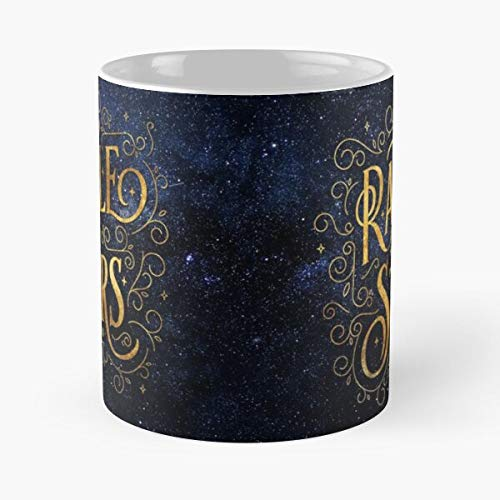 Blue Midnight Galaxy Starry Bookish Nebula Sky Best Taza de café de cerámica de 315 ml, con texto en inglés 'Eat Food Bite John Best Taza de café de cerámica de 315 ml