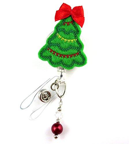 Christmas Tree - Nurse Badge Reel - Retractable ID Badge Holder - Nurse Badge - Badge Clip - Badge Reels - Pediatric - RN - Name Badge Holder