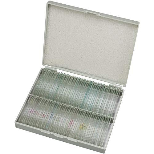 Bresser Dauerpräparate für Mikroskop (100 Stück), vorgefertigte und konservierte Präparate zu verschiedenen Themen