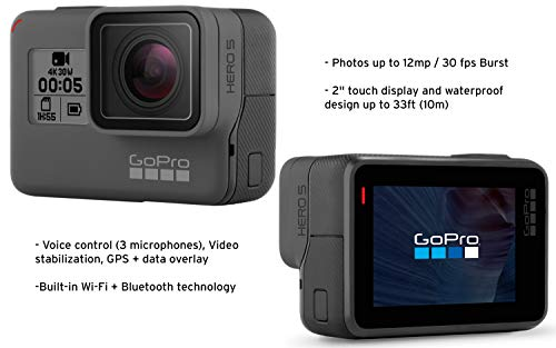 Gopro hero5 black (e-commerce packaging) 5 this product is in manufacturer e-commerce packing (see pictures). The product itself is identical to the one found in retail packaging & it is covered under full standard warranty stunning 4k video and 12mp photos in single, burst and time lapse modes durable by design, hero5 black is waterproof to 33ft (10m) without a housing