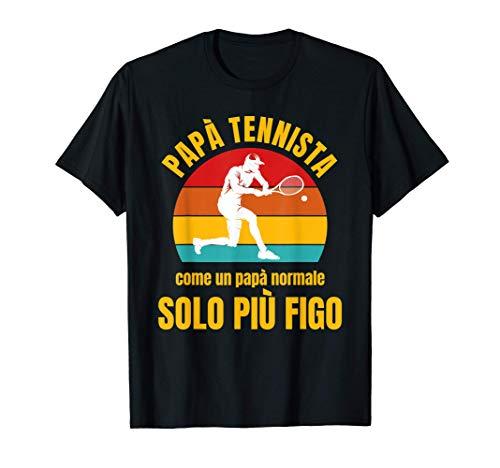 Tennis Tennista Papà Divertente Padre Regalo Uomo Maglietta