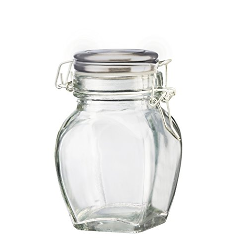 Amici Click Hermetic Jar with Stainless Steel Lid, 11 oz - Set of 6