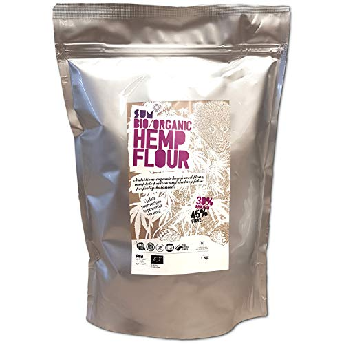 Organic Hemp Flour – Raw – Vegan – Gluten Free - GMO Free (1Kg)
