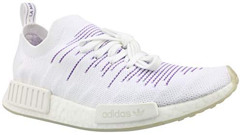 adidas Damen NMD_r1 Pk W Gymnastikschuhe, Weiß (FTWR White/FTWR White/Active Purple FTWR White/FTWR White/Active Purple), 36.5 EU