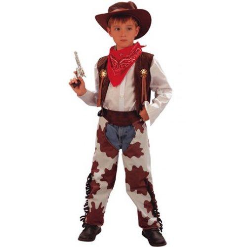 Déguisement cow boy enfant 7-9 ans (gilet, sur pantalon, bandana, chapeau)