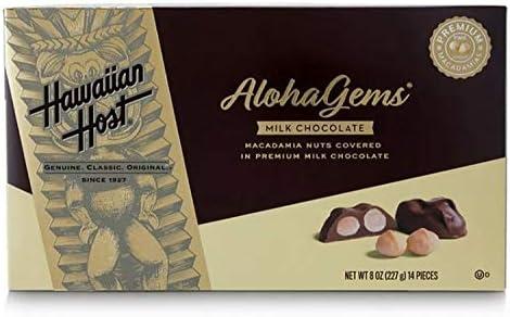 Hawaiian Host Aloha Gems Creamy Milk Chocolate Covered Macadamia Nuts 8 oz 3 Pack product image