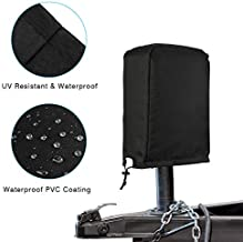Kohree Electric Jack Cover for Travel Trailer Camper, Waterproof RV Power Tongue Protective Head Jack Cover 600D Polyester, Universal Large Size 14″H x 5″W x 10″D