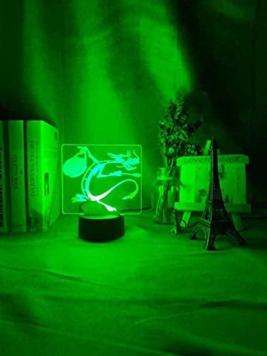 LWYX Lámpara 3D de ilusión 3D de Grandmaster con 7 colores que cambian de color con mando a distancia para sala de estar, cama, bar, regalos de Navidad, regalos de cumpleaños para niños - A11